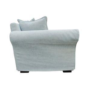 Canapé d'angle convertible 5 places bleu en tissu - Melbourne - Visuel n°7