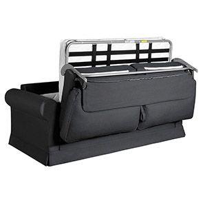 Canapé convertible 3 places en tissu gris fusain - Montana - Visuel n°2