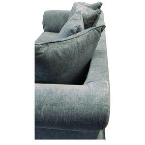 Canapé fixe 3 places en tissu bleu eucalyptus - Wilson - Visuel n°13