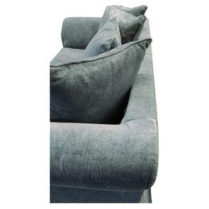 Canapé fixe 3 places en tissu bleu eucalyptus - Wilson - Visuel n°14