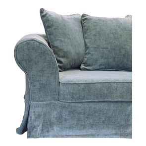Canapé fixe 3 places en tissu bleu eucalyptus - Wilson - Visuel n°15