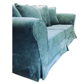 Canapé fixe 3 places en tissu bleu eucalyptus - Wilson - Visuel n°16