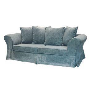 Canapé fixe 3 places en tissu bleu eucalyptus - Wilson - Visuel n°5