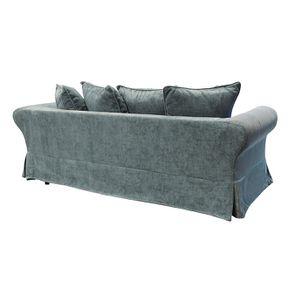 Canapé fixe 3 places en tissu bleu eucalyptus - Wilson - Visuel n°6
