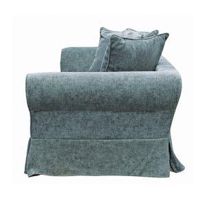 Canapé fixe 3 places en tissu bleu eucalyptus - Wilson - Visuel n°9