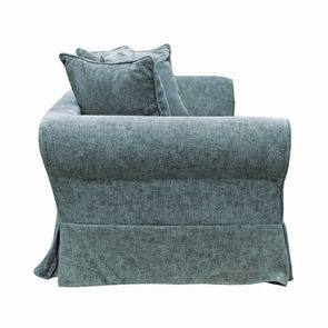 Canapé fixe 3 places en tissu bleu eucalyptus - Wilson - Visuel n°10