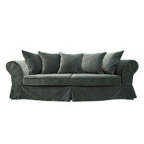 Canapé 4 places en tissu vert - Wilson