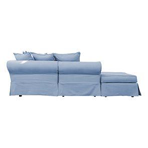 Canapé d'angle 5 places gris en tissu - Melbourne - Visuel n°4