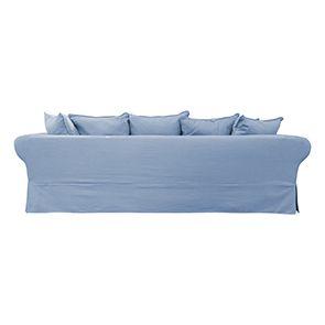 Canapé d'angle 5 places gris en tissu - Melbourne - Visuel n°5
