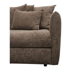 Canapé 3 places fixe en tissu marron - Malaga - Visuel n°11