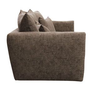 Canapé 3 places fixe en tissu marron - Malaga - Visuel n°5