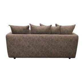 Canapé 3 places fixe en tissu marron - Malaga - Visuel n°8