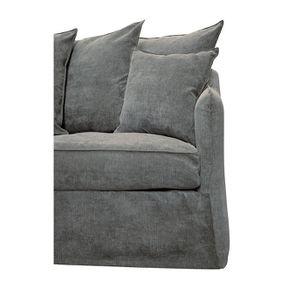 Canapé 4 places en tissu gris - Bilbao - Visuel n°8