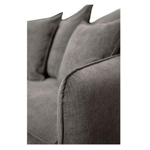Canapé 4 places en tissu gris - Bilbao - Visuel n°9