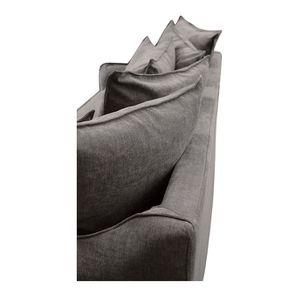 Canapé 4 places en tissu gris - Bilbao - Visuel n°10