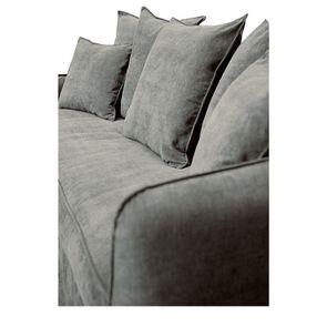 Canapé 4 places en tissu gris - Bilbao - Visuel n°11