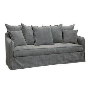 Canapé 4 places en tissu gris - Bilbao - Visuel n°3