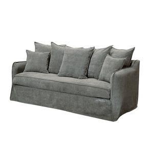 Canapé 4 places en tissu gris - Bilbao - Visuel n°4