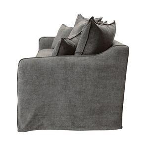 Canapé 4 places en tissu gris - Bilbao - Visuel n°5