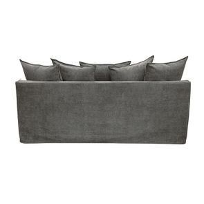 Canapé 4 places en tissu gris - Bilbao - Visuel n°6