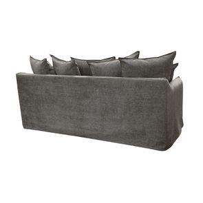 Canapé 4 places en tissu gris - Bilbao - Visuel n°7