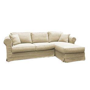 Canapé d'angle en tissu écru - Crowson