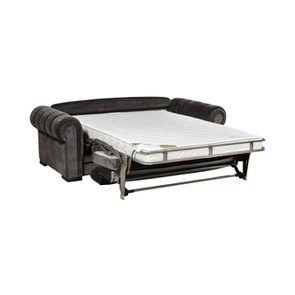 Canapé convertible 2 places en tissu gris anthracite - Bellagio - Visuel n°2
