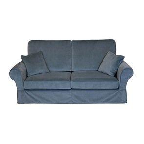 Canapé 2 places en tissu gris - Harold - Visuel n°1