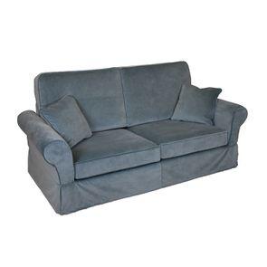 Canapé 2 places en tissu gris - Harold - Visuel n°2