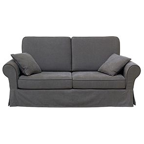 Canapé 2 places gris en tissu - Harold