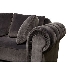 Canapé 2 places en tissu gris anthracite - Bellagio - Visuel n°4