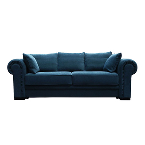 Canapé 2 places en tissu bleu navy - Bellagio - Visuel n°1