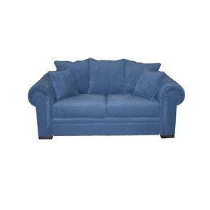 Canapé 2 places en tissu bleu navy - Bellagio