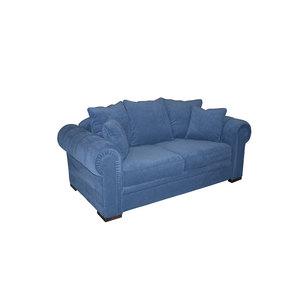 Canapé 2 places en tissu bleu navy - Bellagio - Visuel n°2
