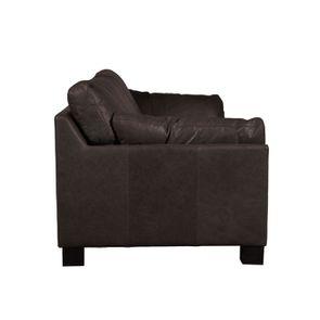 Canapé en cuir 3 places marron foncé - Canberra - Visuel n°7