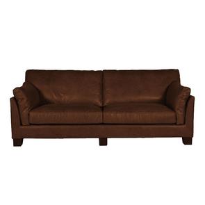 Canapé en cuir marron 3 places - Canberra