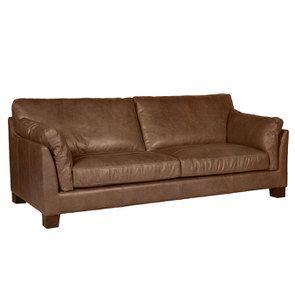 Canapé en cuir 3 places marron vieilli - Canberra - Visuel n°4