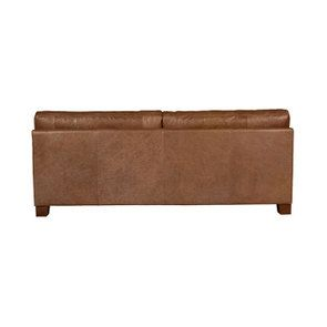 Canapé en cuir 3 places marron vieilli - Canberra - Visuel n°5