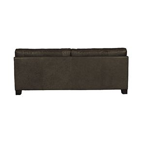 Canapé en cuir 3 places noir vieilli - Canberra - Visuel n°3