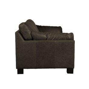 Canapé en cuir 3 places noir vieilli - Canberra - Visuel n°4