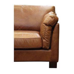 Canapé en cuir 3 places marron clair - Canberra - Visuel n°8