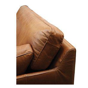 Canapé en cuir 3 places marron clair - Canberra - Visuel n°9