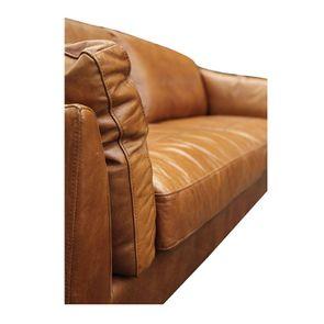 Canapé en cuir 3 places marron clair - Canberra - Visuel n°10