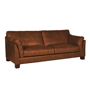 Canapé en cuir marron clair 3 places - Canberra - Visuel n°2