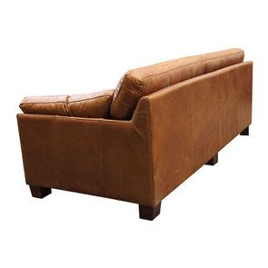 Canapé en cuir 3 places marron clair - Canberra - Visuel n°4
