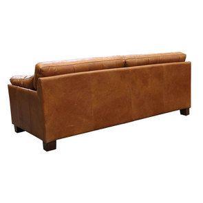 Canapé en cuir 3 places marron clair - Canberra - Visuel n°5