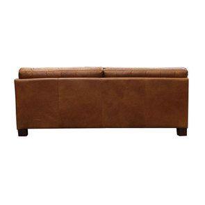 Canapé en cuir 3 places marron clair - Canberra - Visuel n°6