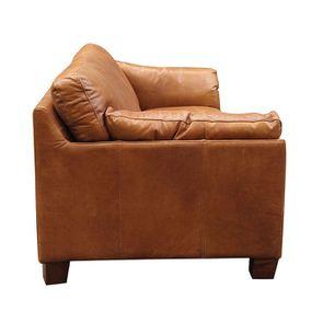 Canapé en cuir 3 places marron clair - Canberra - Visuel n°7