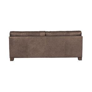 Canapé en cuir 3 places gris Napinha Graphite - Canberra - Visuel n°3