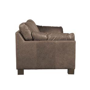 Canapé en cuir 3 places gris Napinha Graphite - Canberra - Visuel n°4